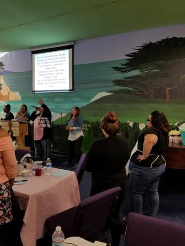 Worship time at our Woman's Ice Cream Social